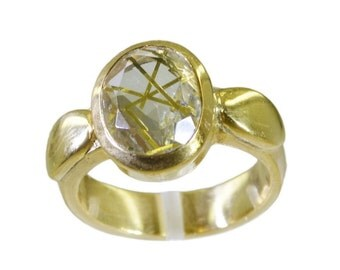 Gold Plated Ring,Multi Ring,Rutile Quartz CZ Multi Ring,Indian,stackable ring,24k gold plated