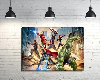 Avengers framed Canvas Wall Art