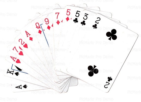 Casino Poker Cards - Edible Cake and Cupcake Topper For Birthday's and Parties! - D20791