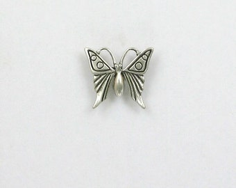 925 Sterling Silver Butterfly Insect Charm - IN19