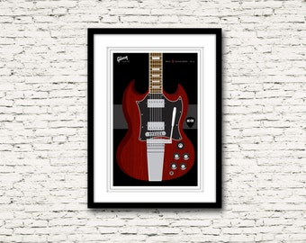 Guitars Signature Series Poster 8 Gibson SG AC/DC