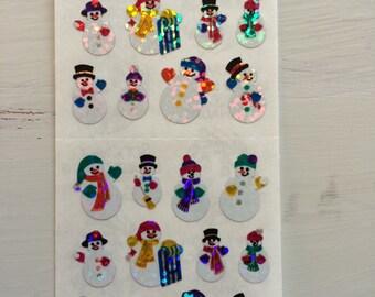 Snowmen Sandylion stickers vintage from 1990s