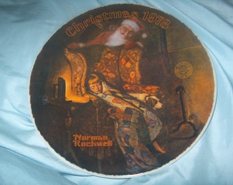 Vintage Norman Rockwell Plate, Christmas 1978, Christmas Dream, 5th Annual Series, Knowles, WAS 10.00 - 20% = 8.00