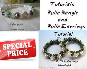 Set: Rulla Earrings and Rulla Bangle  ( In English or Italian)