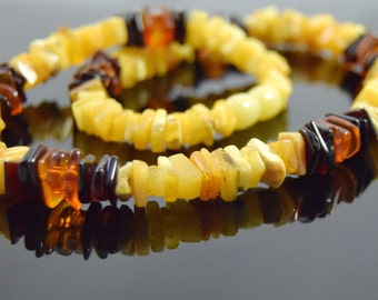Elegant choker necklace Baltic amber