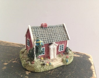 Vintage small house Made in Denmark Miniature small house Scandinavian house Housewarming gift