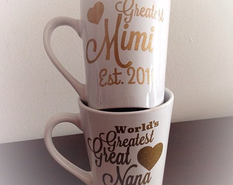 World's Greatest nana-great grandma-mimi-mamma-mami-granny coffee mug