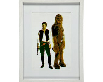 "Film Art Print - Star Wars - fan-art ""Han & Chewie"""
