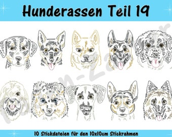 Dog breeds part 19 for the border 10x10cm