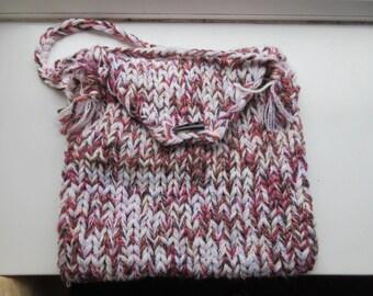 Handmade Woolly Handbag With Double Handles - Cute!!