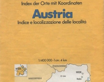 Austria, Michelin Map,  1980, good shape