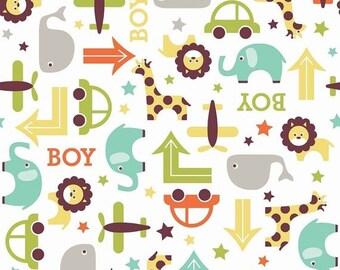 "Sale 15% Off Riley Blake Designs ""Oh Boy"" by Lori Whitlock. 100 Percent cotton/ White - Main."