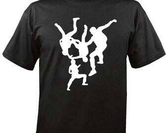 Skydiving 4way free flying tshirt