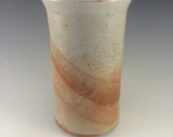 Stoneware Wine Chiller Spoon Crock in Shino Glaze