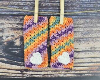 Legwarmers - Baby- Heart- Orange- Purple- Green