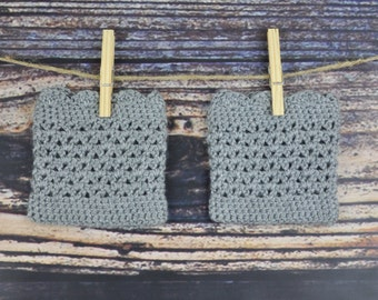 Grey Boot Cuffs - Boot Accessories