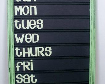 Chalkboard Menu Board - Weekly Menu Board - Dinner Menu Board - Spring Green - Made to Order