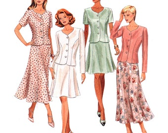 McCall's Sewing Pattern 8102 Misses' Two-piece Dress  Size:  B  8-10-12  Uncut