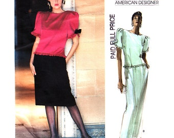 Vogue Sewing Pattern 1659 Misses' Dress by Albert Nipon  Size:  8  Used