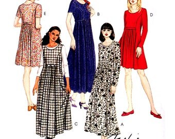 McCall's Sewing Pattern 7893 Misses Dress in two lengths  Size:  B  8-10-12  Used