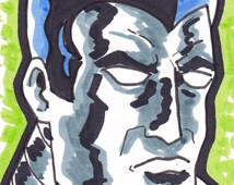 "Colossus X-Men ACEO trading card 2 1/2"" x 3 1/2"""