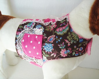 Dog Harness Vest, Fabric Vest, Small Dog Harness Vest with Pocket