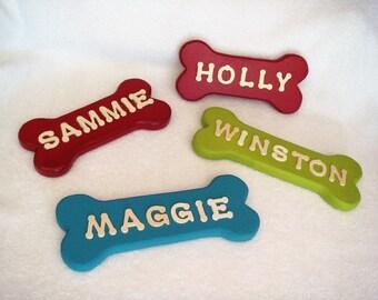 Dog Name Sign, Bone Shaped Dog Name Sign, Personalized Dog Name Sign