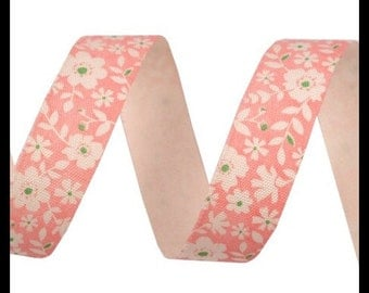 Cotton tape of 16 mm delicate flowers