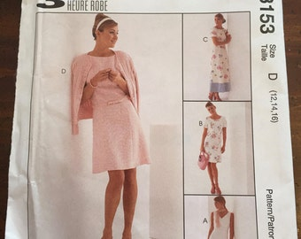 McCall's 8153 Flared Dress Pattern, Size D, Size 12 - 14, UNCUT