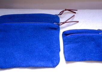 Natural Indigo  Dyed Pouches Bag