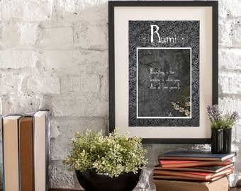 September Everything in the Universe A Year of Rumi Inspirational Quote Artwork Print Poster