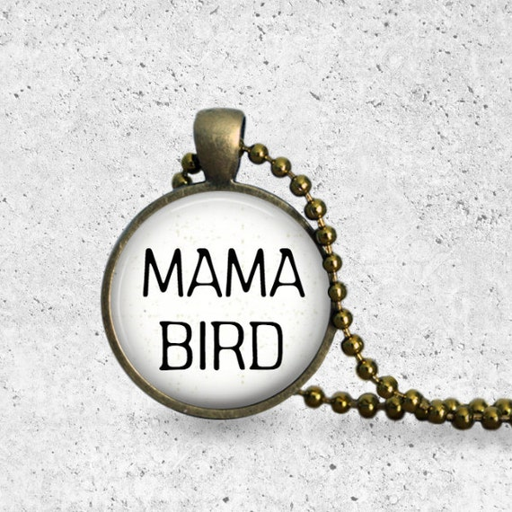 Customized Family Necklace, Mother's necklace, Mother and Child Necklace, Mother's Day, Personalized Mother's Gift, Mama Necklace, Mama Bird