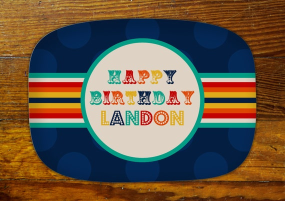 Personalized Serving Platter-Happy Birthday