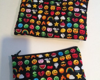 Emojicon coin purse/wristlet