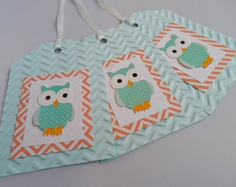 Owl gift tags (pack of 3)