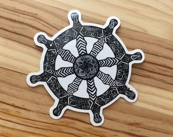 Zentangle - Dharma Wheel