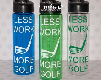 Personalized golf water bottle, golfer gift, golf cup, dad gift, father's day gift, gift for golfer, golf team, golf coach gift