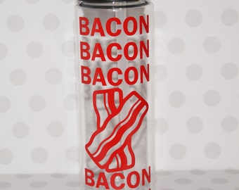 Bacon water bottle, Love Bacon gift, Bacon lover, Bacon present, bacon gift,  fathers day gift, gift for dad, dad water bottle, dad birthday