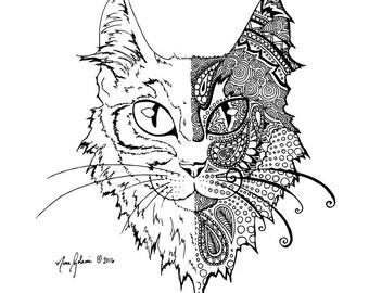 """Cat Fine Art Print 8.5"""" x 11"""""""