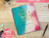 2016 Planner - Goal-setting and monthly calendar all-in-one SPIRAL BOUND