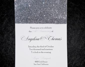 Glitz - (Glitter Invitation for any occasion)