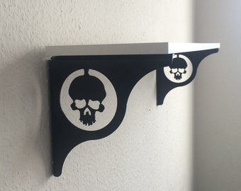 Regal skull console wall shelf shelf support steel shelf bracket