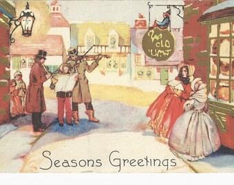"1910 Beautiful  ""Season's Greetings"" Christmas Postcard"
