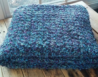 Soft Purple / Blue / Green Blanket / Multi colored throw