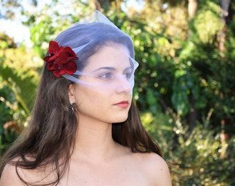 Birdcage Veil, Tulle Birdcage Veil, wedding birdcage veil, birdcage wedding veil, mini tulle veil, Bridal veil, blusher veil, flower veil