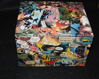 Wolverine Decoupage Comic Book Jewelry Box
