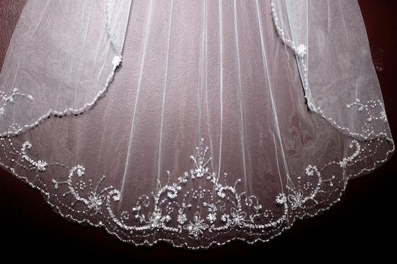 veil champagne crystal edge wedding veil bridal veil wedding veils