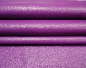 Purple natural leather fabric, violet sheep leather fabric, violet lambskin leather, natural leather pieces, PURPLE PASSION, 123, 0.8 mm