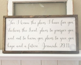 """Shop """"jeremiah 29 11"""" in Home & Living"""