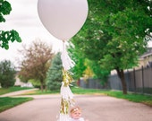 White and Gold Balloon Tassel